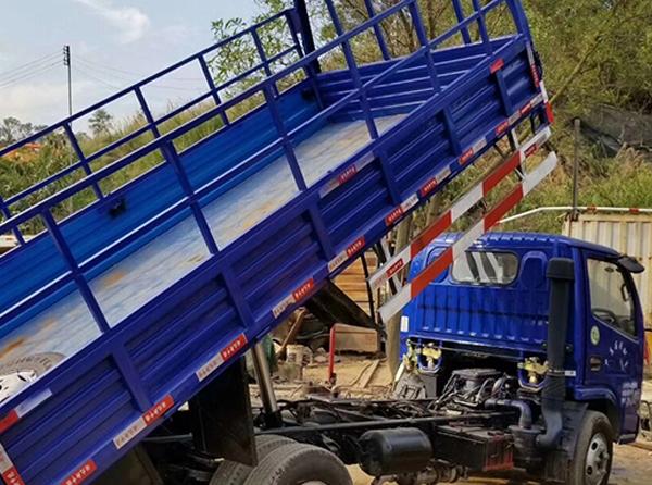 单排自卸货车
